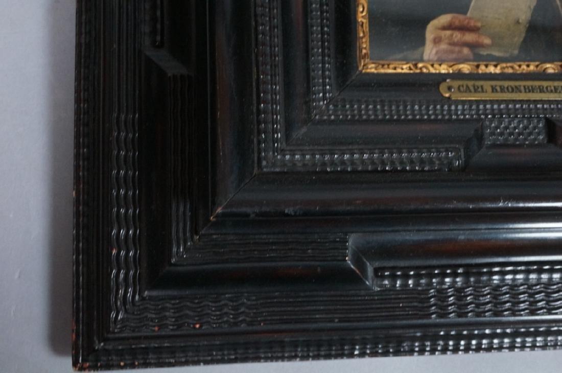 CARL KRONBERGER Oil Portrait of Man with Pipe; pr - 5