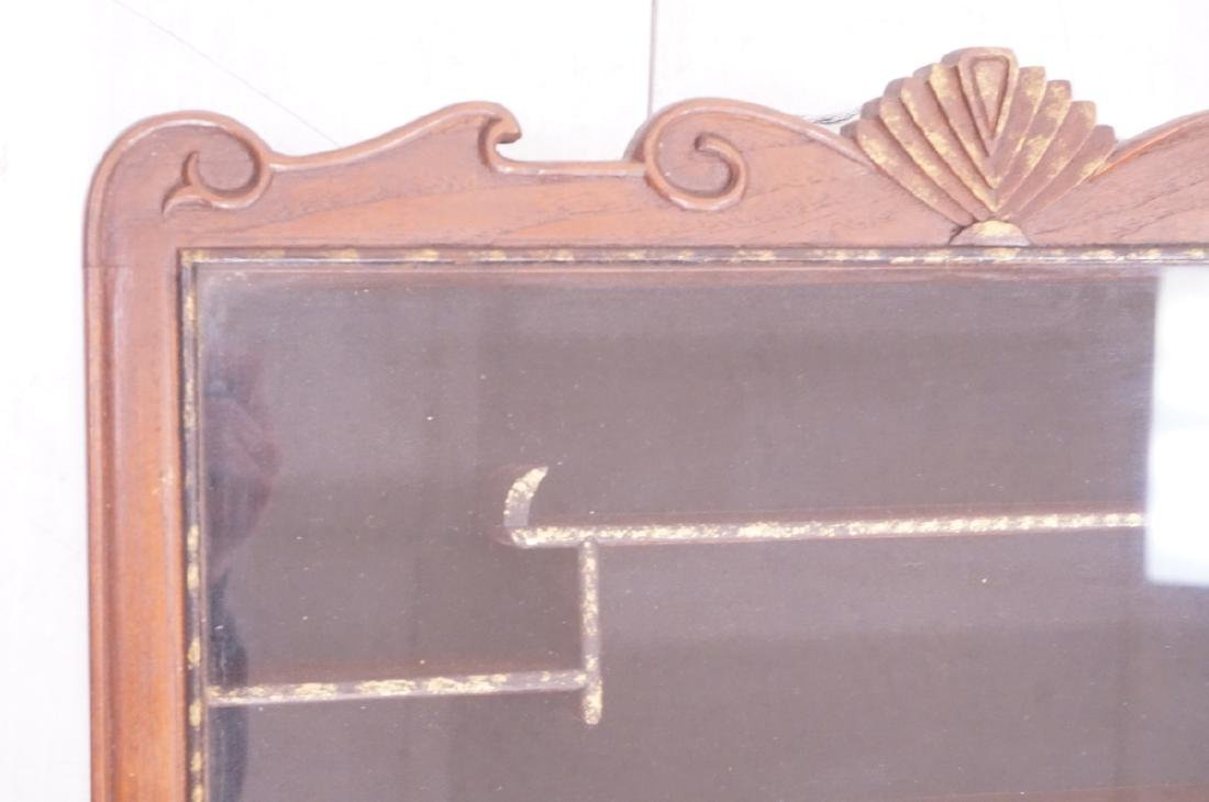 Pr Glass Front Asian Display Cabinets. Wall mount - 4