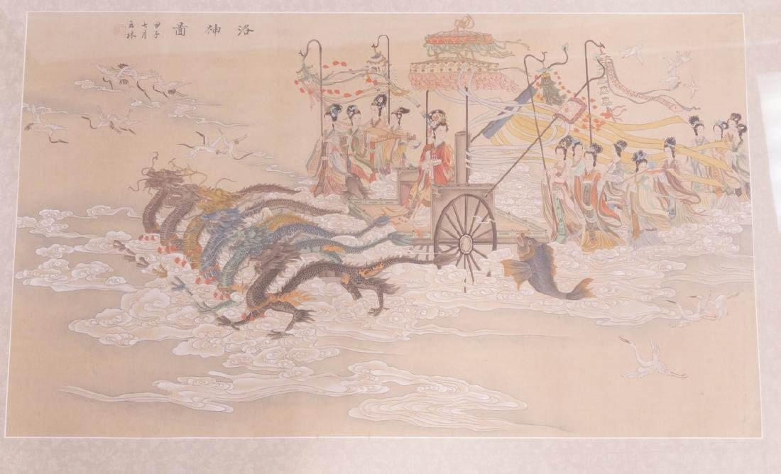 Vintage Chinese Hand painted Processional Paintin