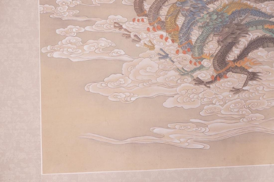 Vintage Chinese Hand painted Processional Paintin - 4