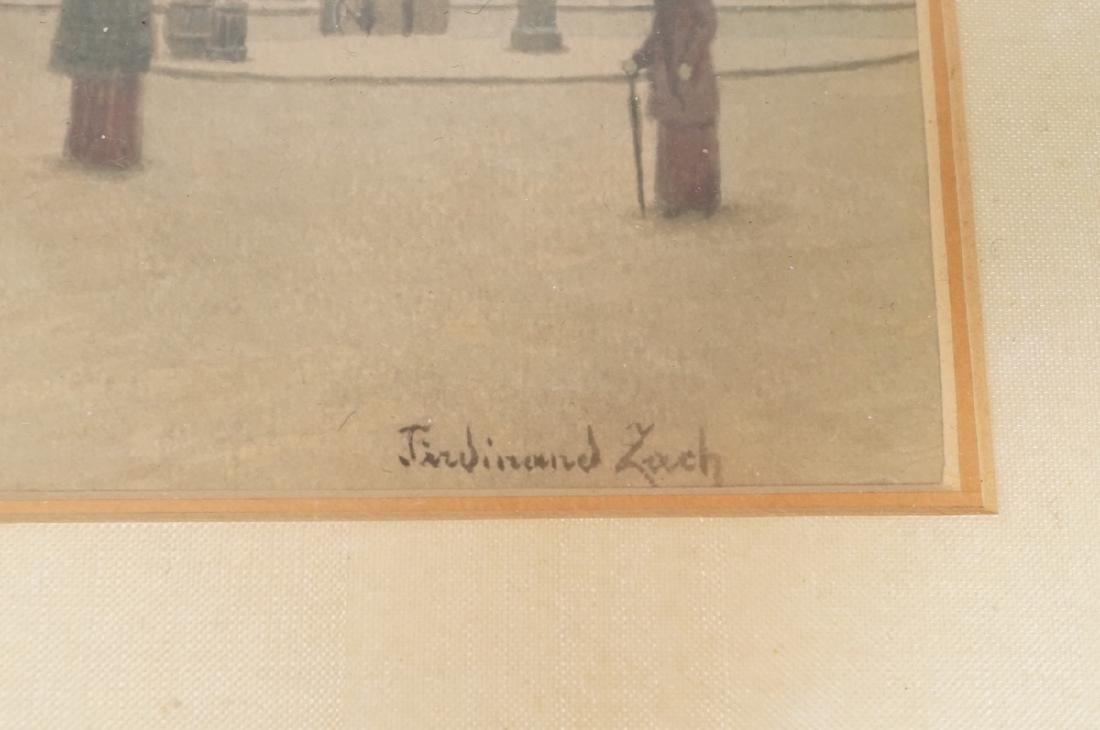 3pc FERDINAND ZACH Urban Watercolor. Austrian tow - 10