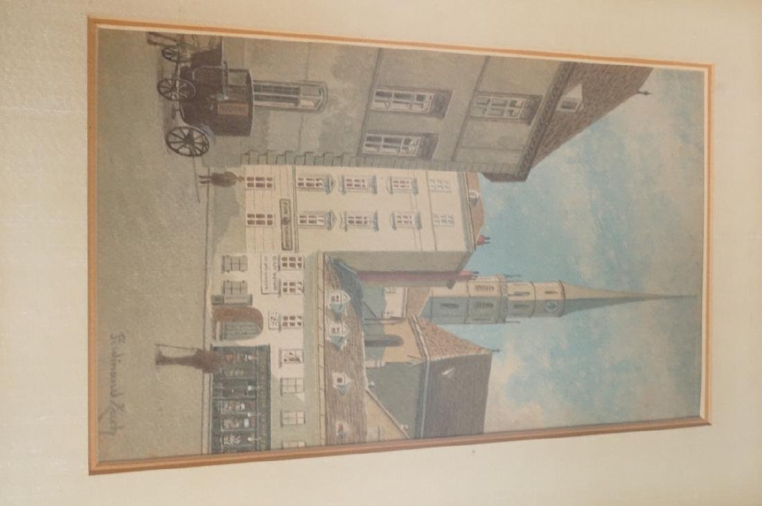 3pc FERDINAND ZACH Urban Watercolor. Austrian tow - 4