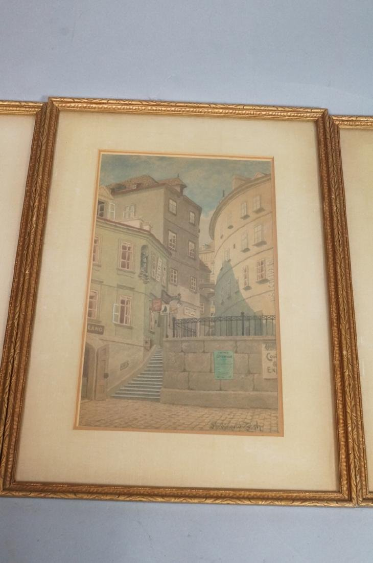3pc FERDINAND ZACH Urban Watercolor. Austrian tow - 5