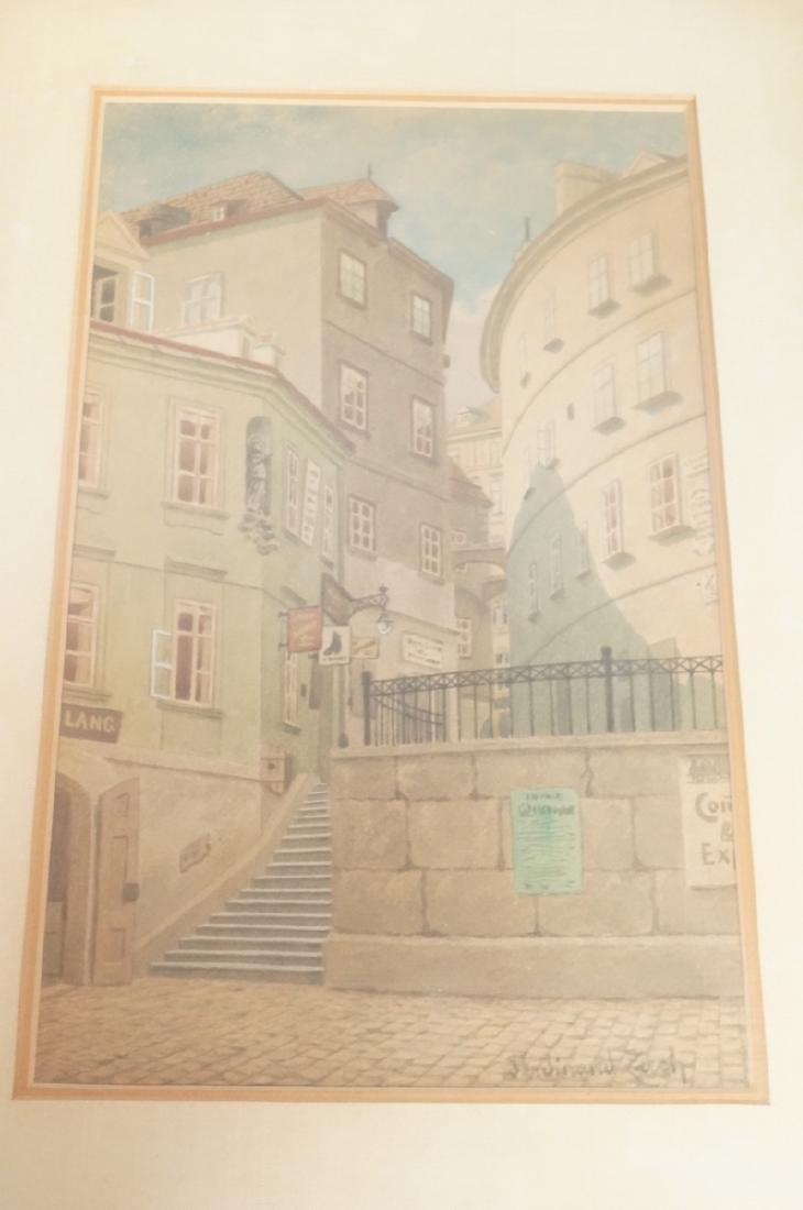 3pc FERDINAND ZACH Urban Watercolor. Austrian tow - 6