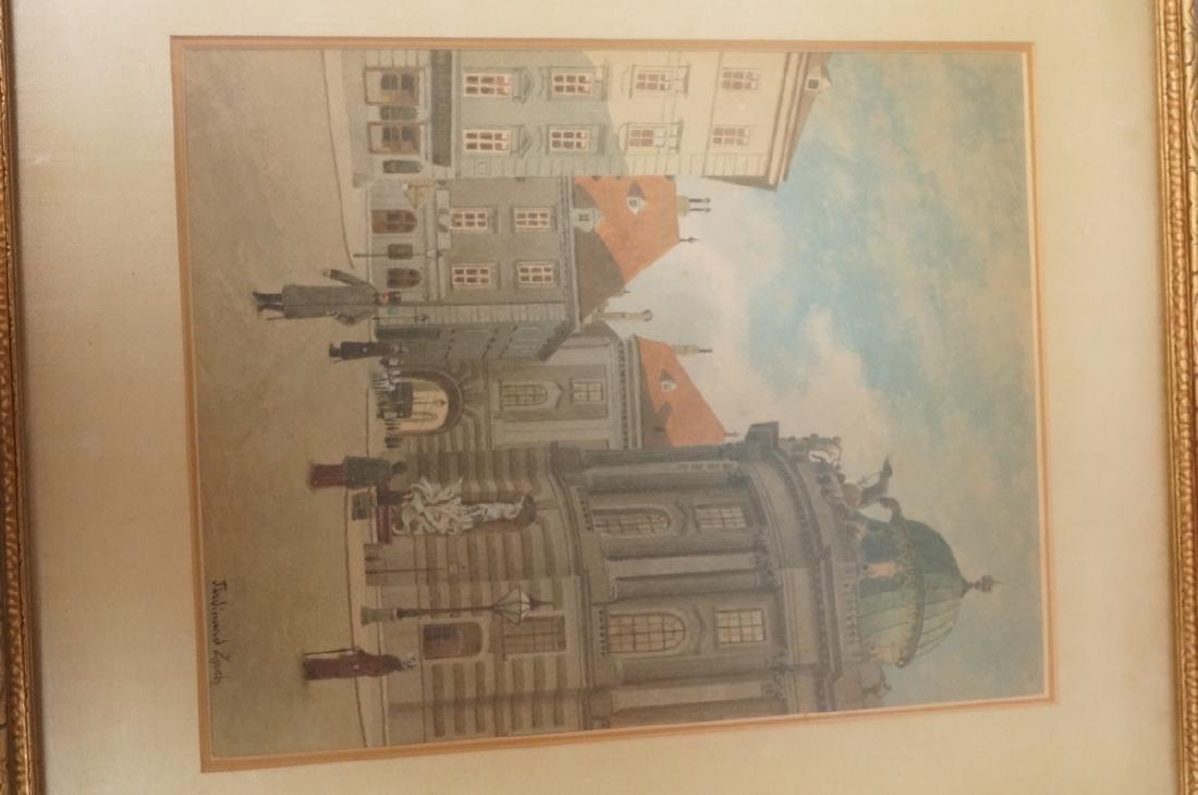 3pc FERDINAND ZACH Urban Watercolor. Austrian tow - 9