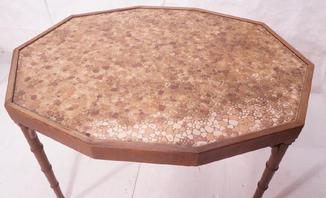 Decorator Pebble Tile Top Occasional Center Table