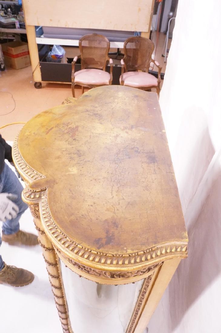 Antique VERNIS MARTIN Bowed Glass Vitrine Curio C - 10