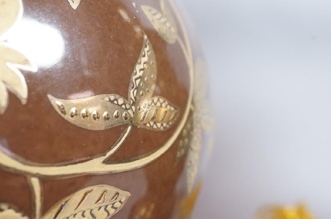Pr FREDERICK COOPER Brown Urn Form Table Lamps. A - 6