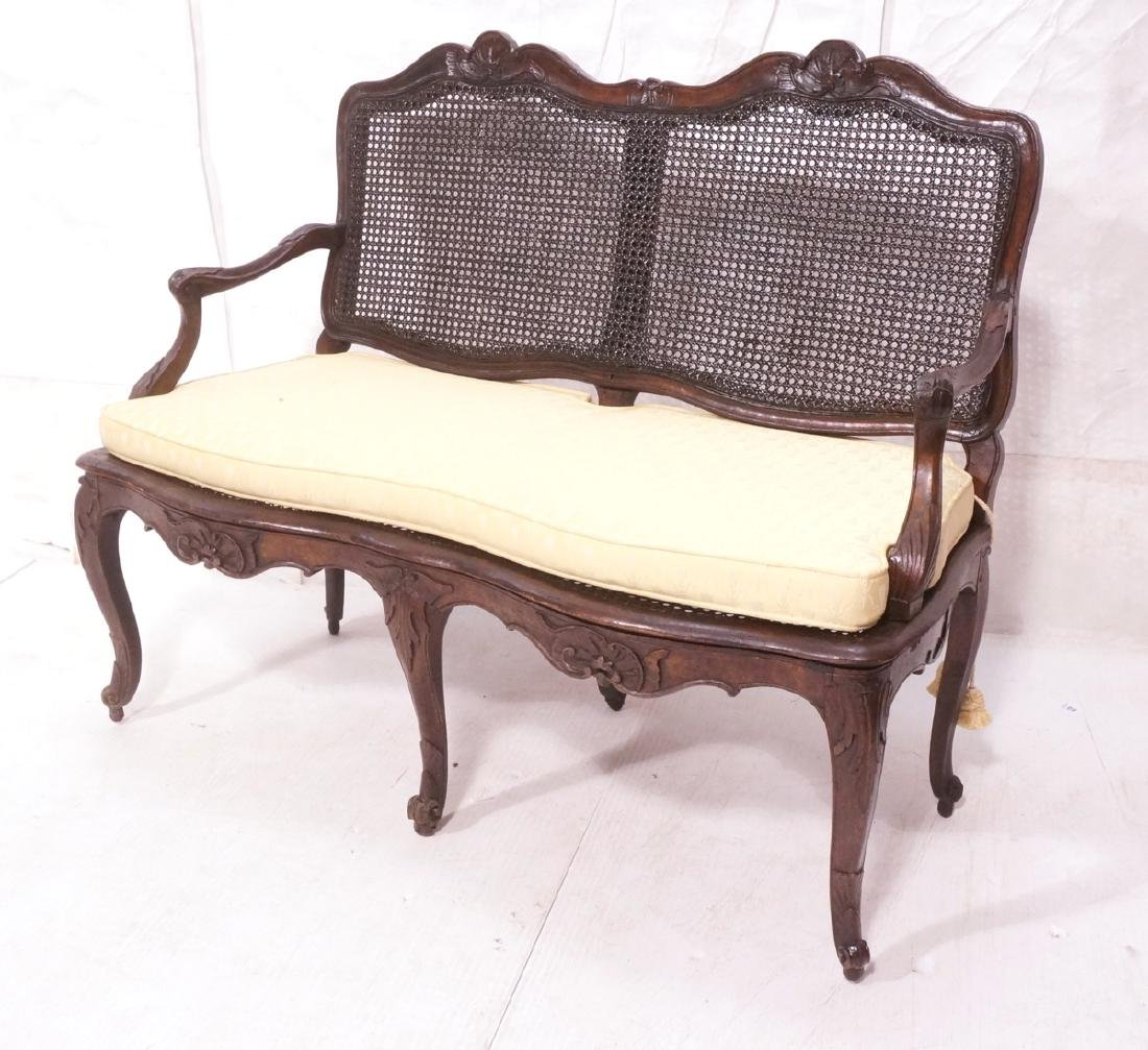 French Style Love seat Settee. Carved wood frame