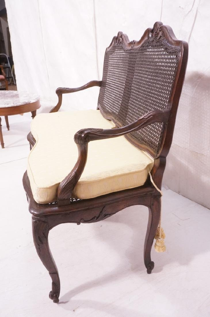 French Style Love seat Settee. Carved wood frame - 3