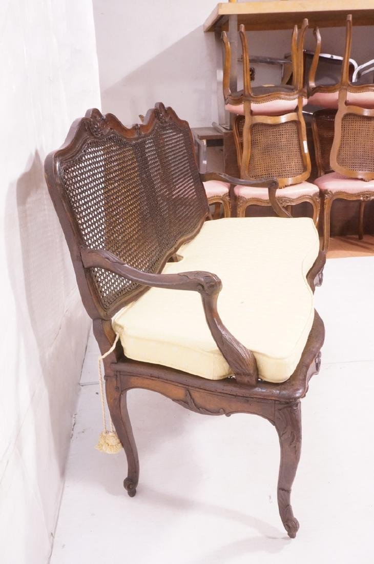 French Style Love seat Settee. Carved wood frame - 4