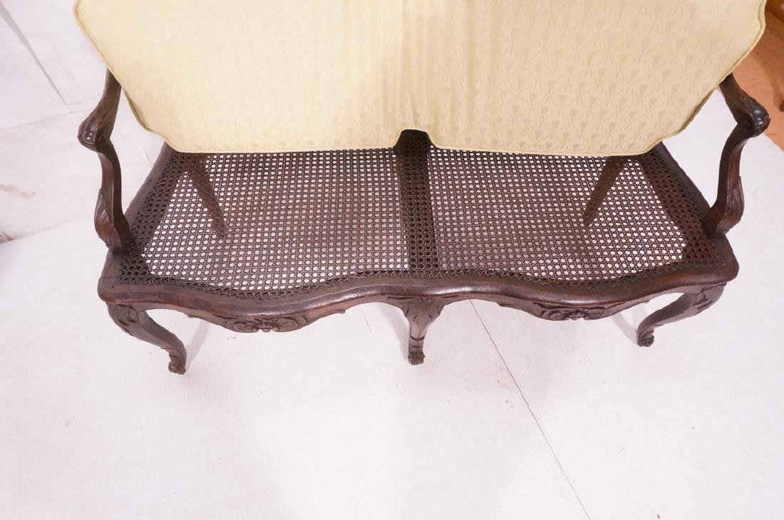 French Style Love seat Settee. Carved wood frame - 5