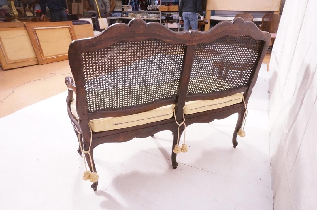 French Style Love seat Settee. Carved wood frame - 6
