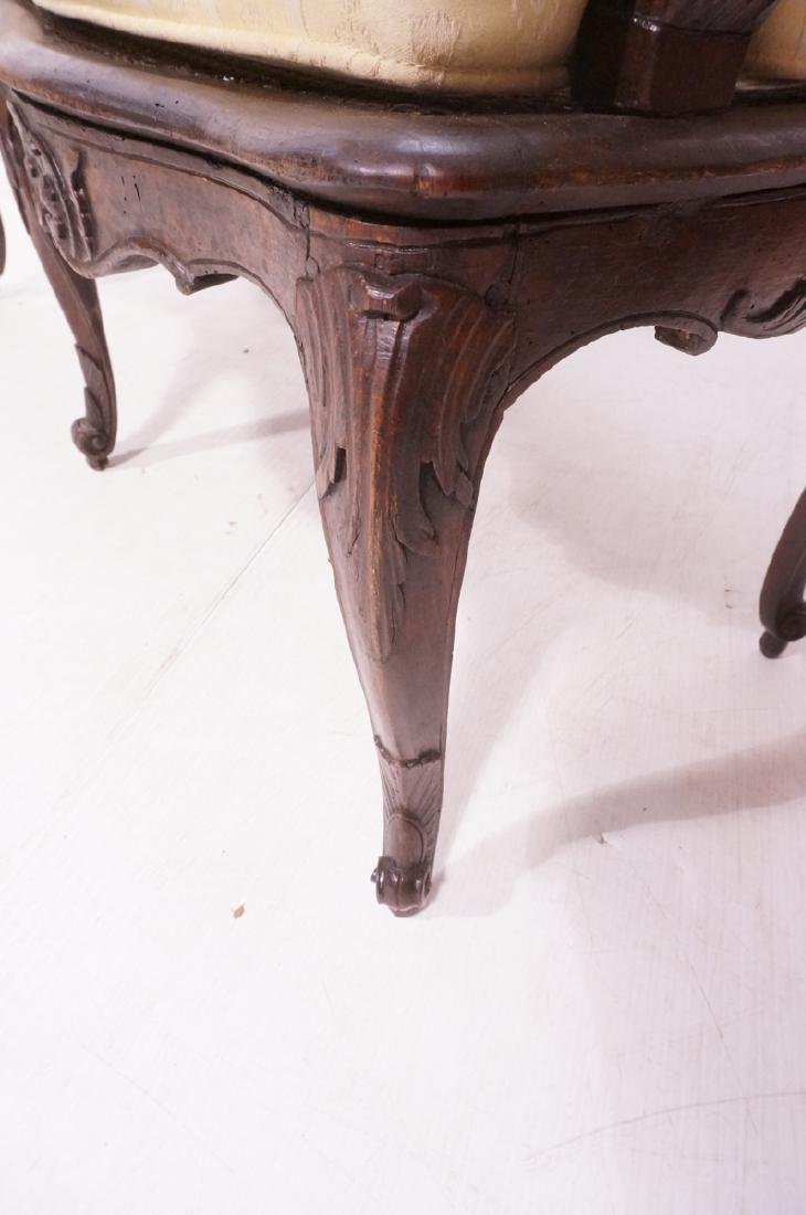 French Style Love seat Settee. Carved wood frame - 7