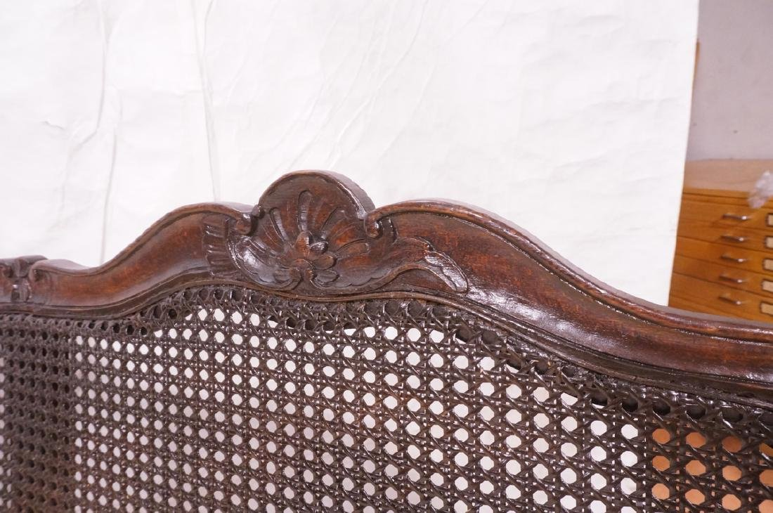 French Style Love seat Settee. Carved wood frame - 9
