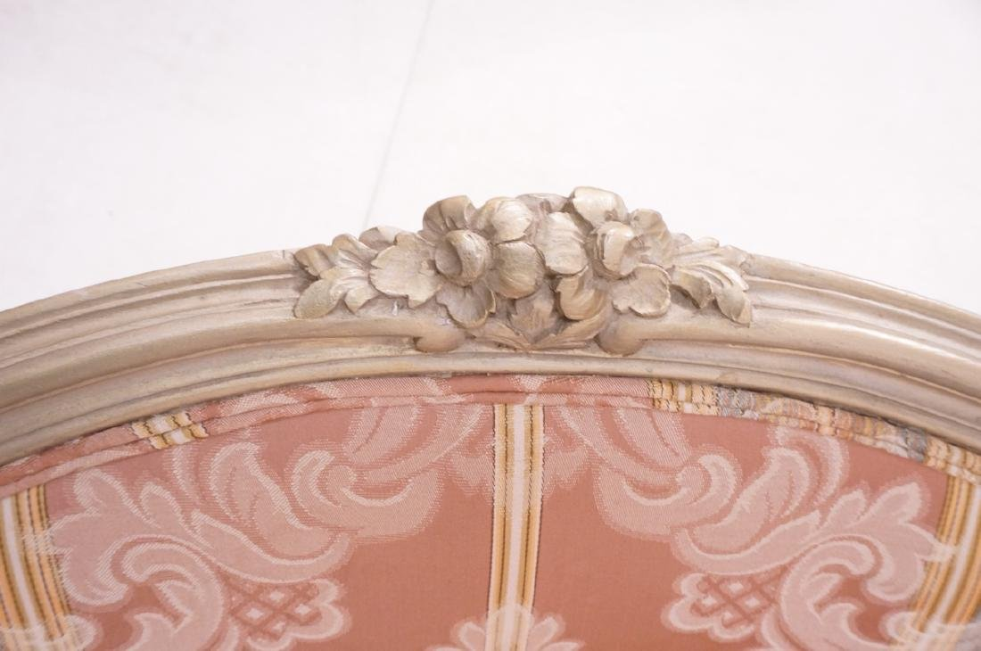 Pr Carved French Upholstered Chairs. Fauteuils. C - 10