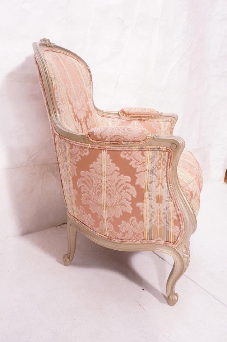 Pr Carved French Upholstered Chairs. Fauteuils. C - 4