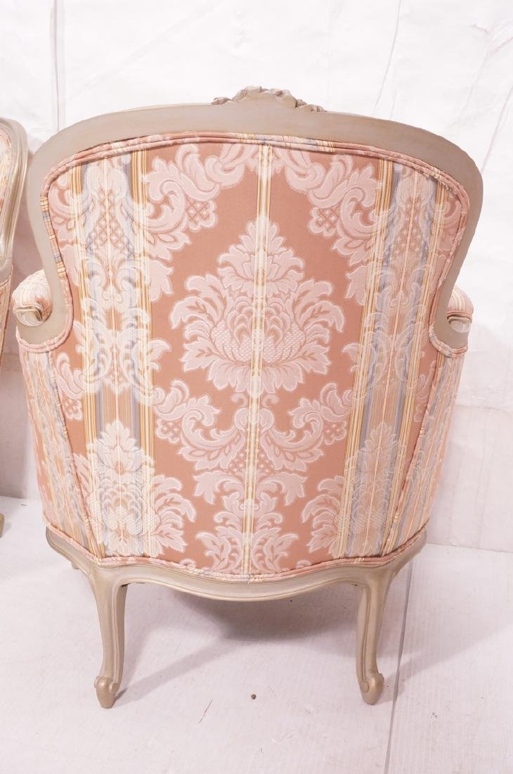 Pr Carved French Upholstered Chairs. Fauteuils. C - 5