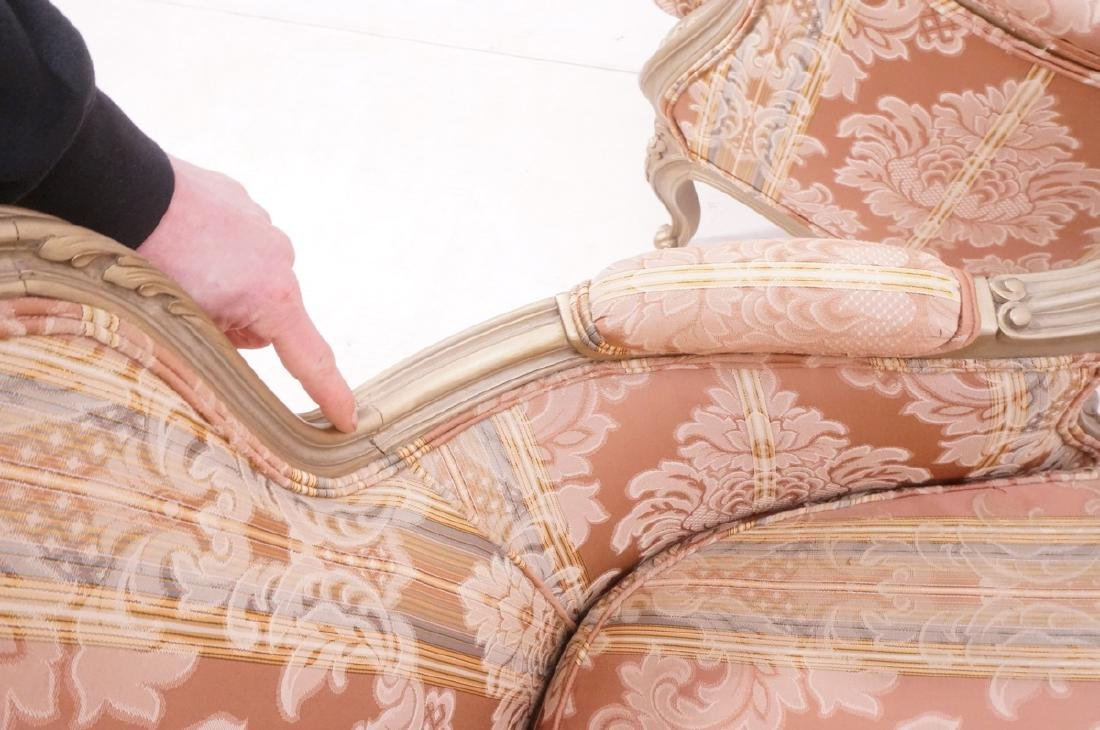 Pr Carved French Upholstered Chairs. Fauteuils. C - 7