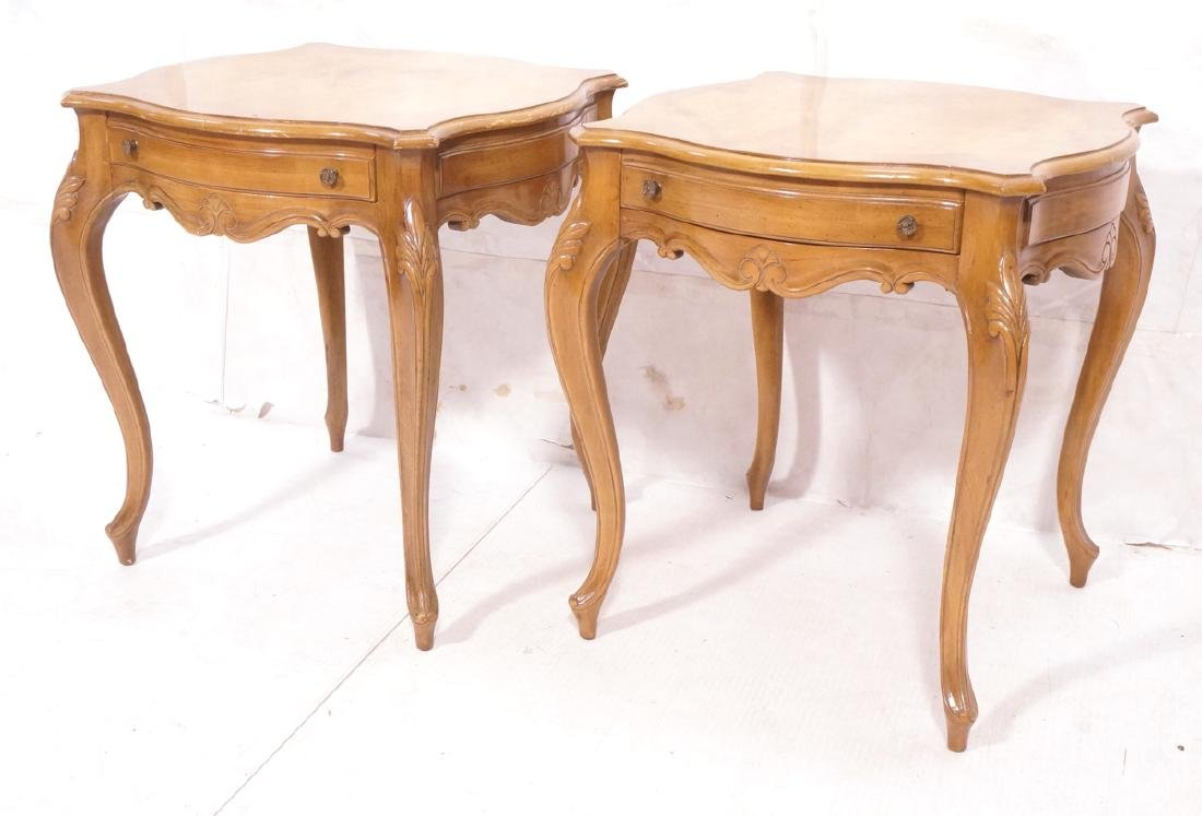 Pr WEIMAN One drawer French style Side Tables. Ca