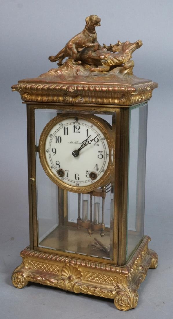 SETH THOMAS Gilt metal Carriage Clock. Metal case