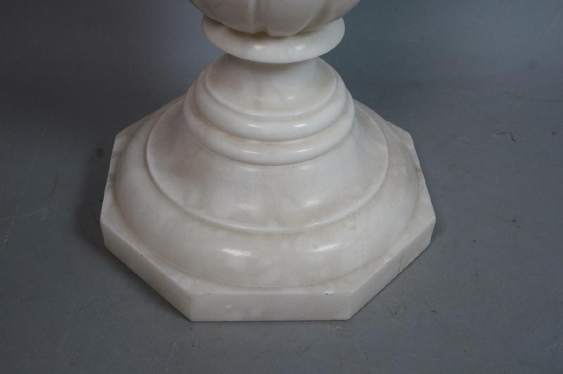 Carved Alabaster Display Pedestal. Fluted column - 2