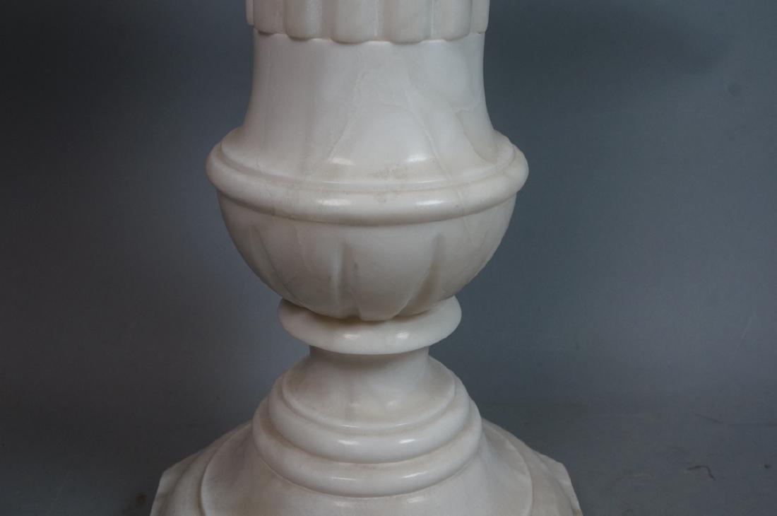 Carved Alabaster Display Pedestal. Fluted column - 3