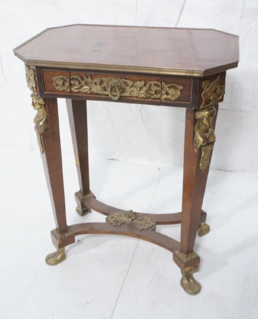 Decorative Metal Mounted Side Table. Egyptian rev