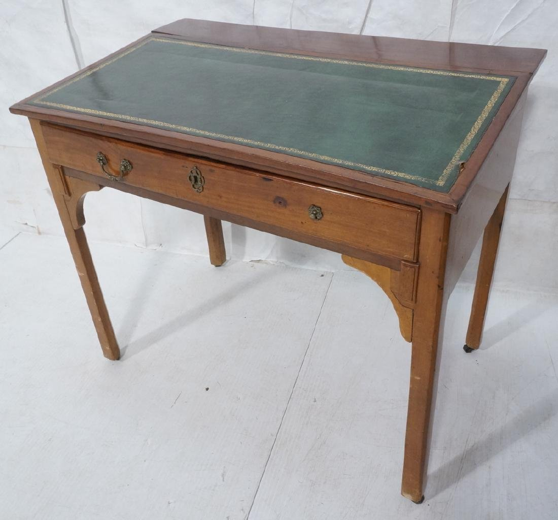 Antique Leather Top Desk. Single drawer writing d