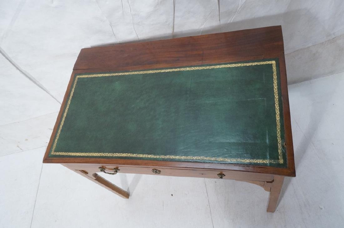 Antique Leather Top Desk. Single drawer writing d - 2