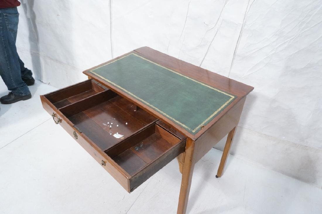 Antique Leather Top Desk. Single drawer writing d - 3