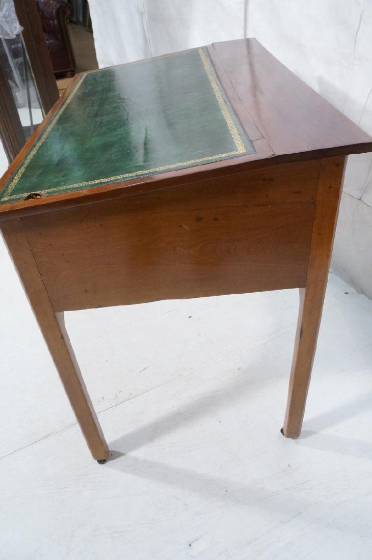 Antique Leather Top Desk. Single drawer writing d - 4