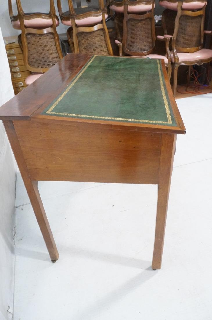 Antique Leather Top Desk. Single drawer writing d - 6