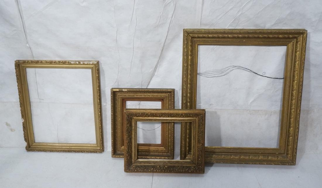 Lot 4 Vintage Gilt Gesso Picture Painting Frames.