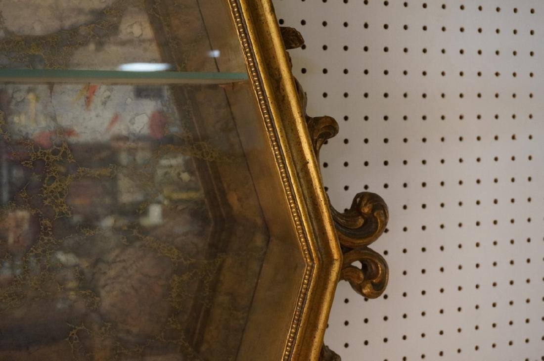 Hexagonal Gilt Wood Framed Display Cabinet. Antiq - 10