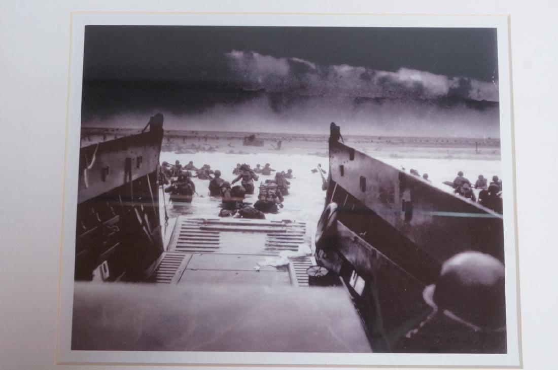"ROBERT F. SARGENT Photograph ""D Day Invasion"". Li"