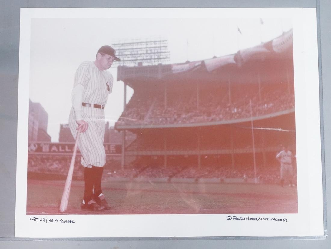 "RALPH MORSE Lab Proof. Babe Ruth photograph. ""Las"