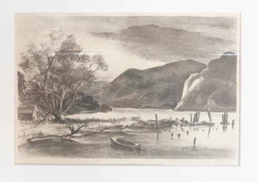 ADOLPH DEHN Pencil Signed Landscape Lithograph. M