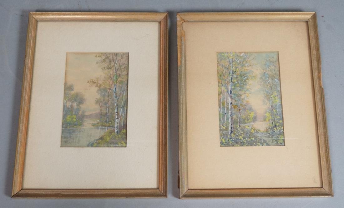 2pc RAPHAEL SENSEMAN Watercolor Landscape. Both w