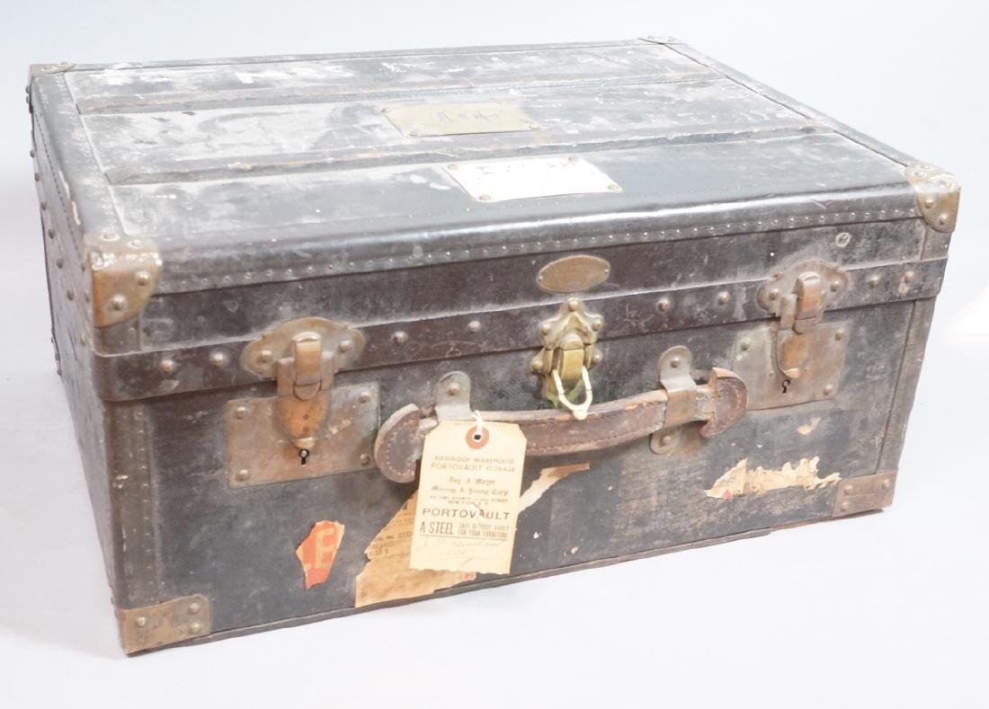 P. COLLONGE Small Steamer Trunk. Wood slat top, m