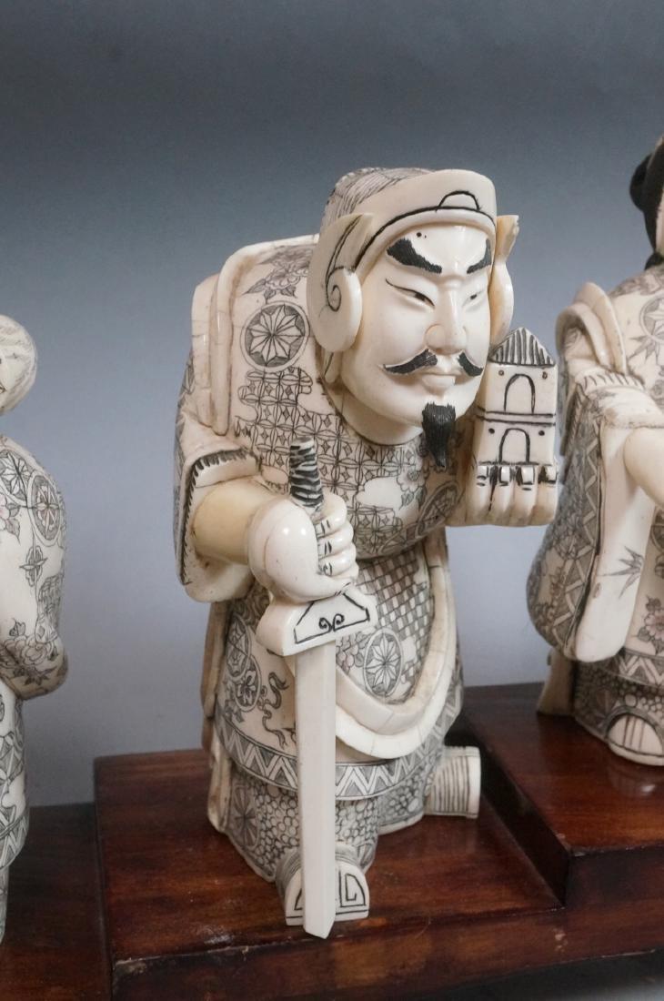 """8.5"""" Vintage Carved Figural Sculptures '7 Immorta - 8"""
