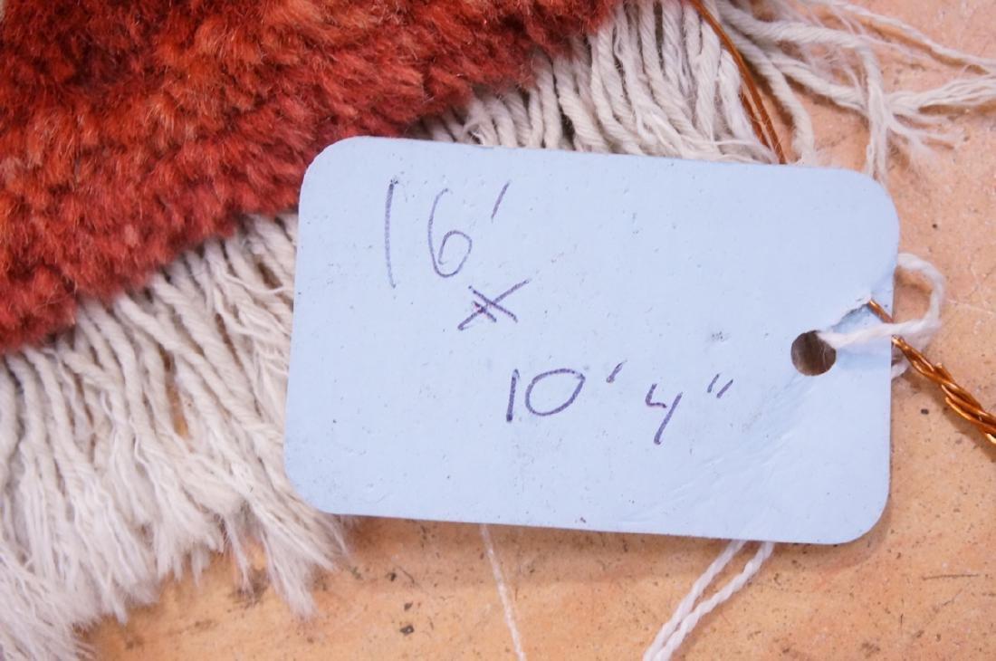 "16' x 10'4"" Handmade Sarouk Carpet Rug. Room Size - 10"