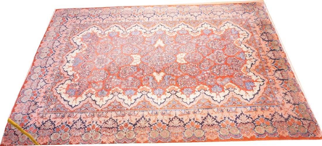 "16' x 10'4"" Handmade Sarouk Carpet Rug. Room Size"
