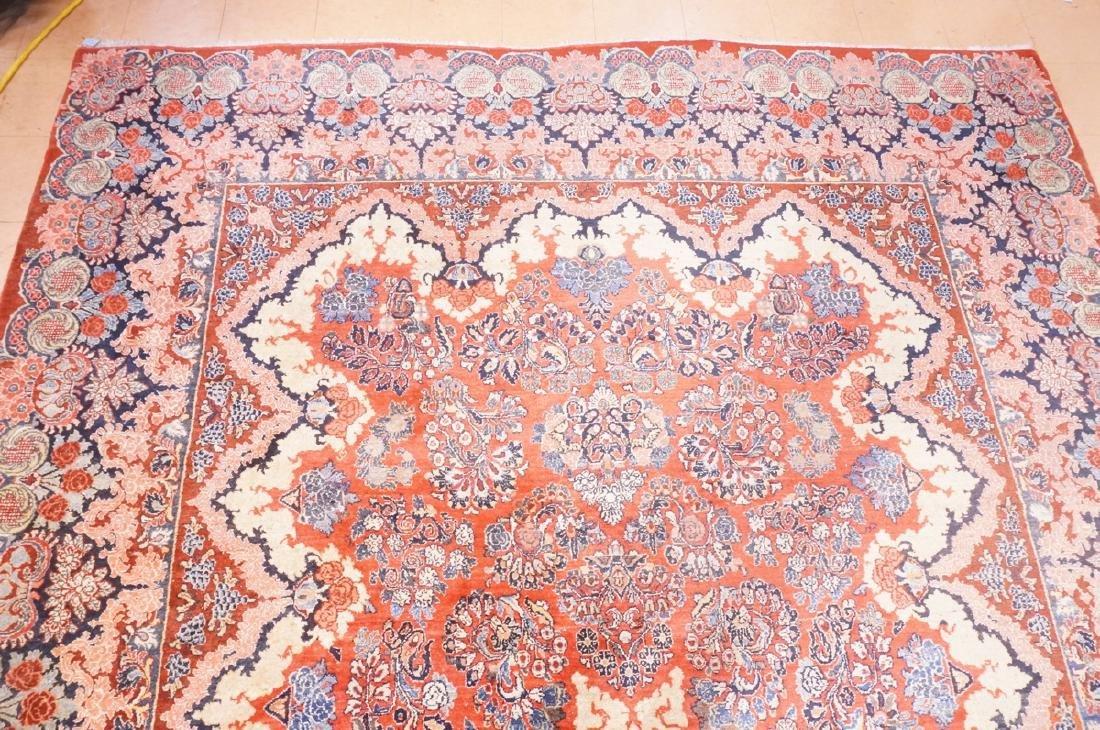 "16' x 10'4"" Handmade Sarouk Carpet Rug. Room Size - 2"