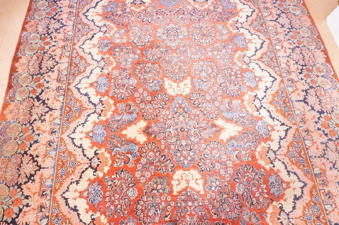 "16' x 10'4"" Handmade Sarouk Carpet Rug. Room Size - 3"
