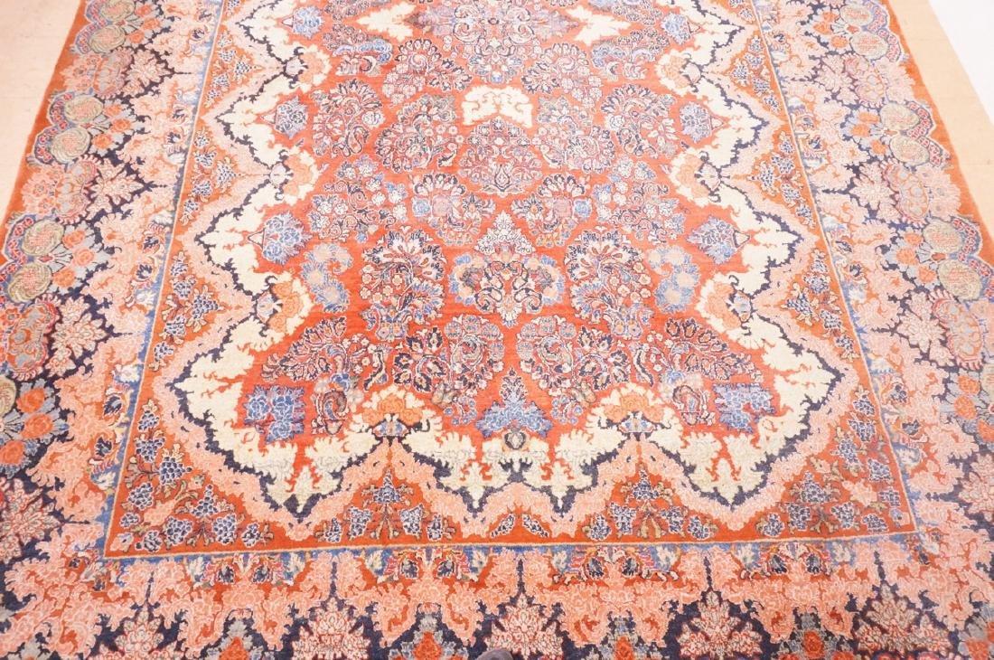 "16' x 10'4"" Handmade Sarouk Carpet Rug. Room Size - 4"