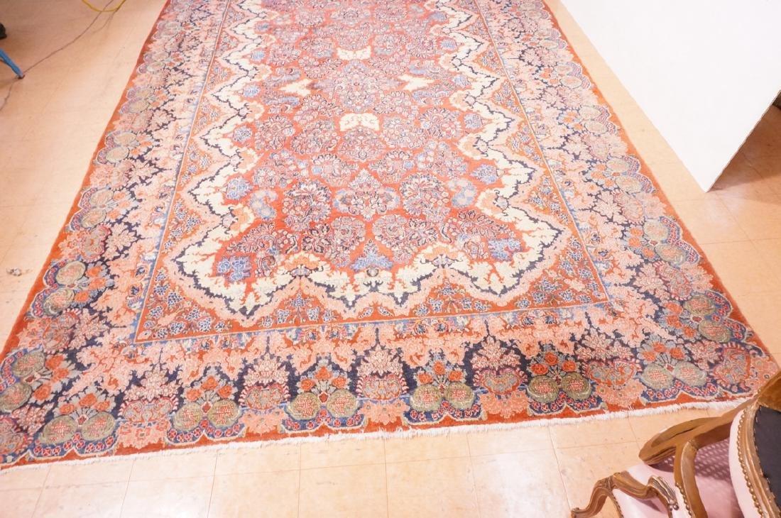 "16' x 10'4"" Handmade Sarouk Carpet Rug. Room Size - 5"