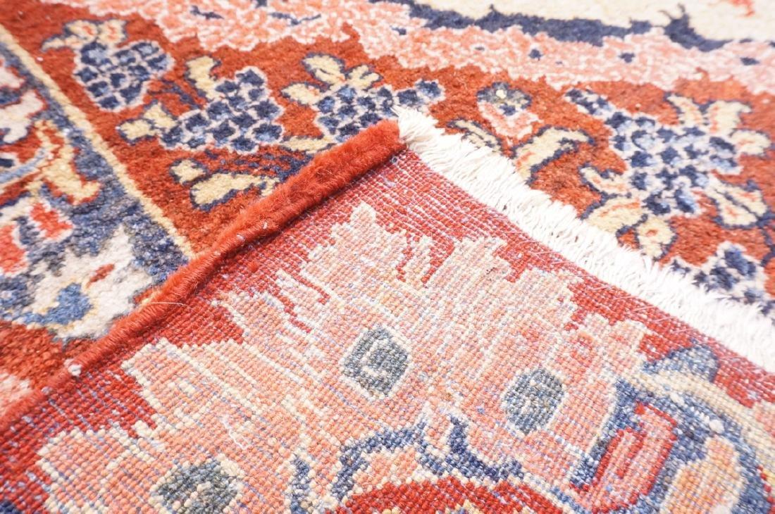 "16' x 10'4"" Handmade Sarouk Carpet Rug. Room Size - 6"