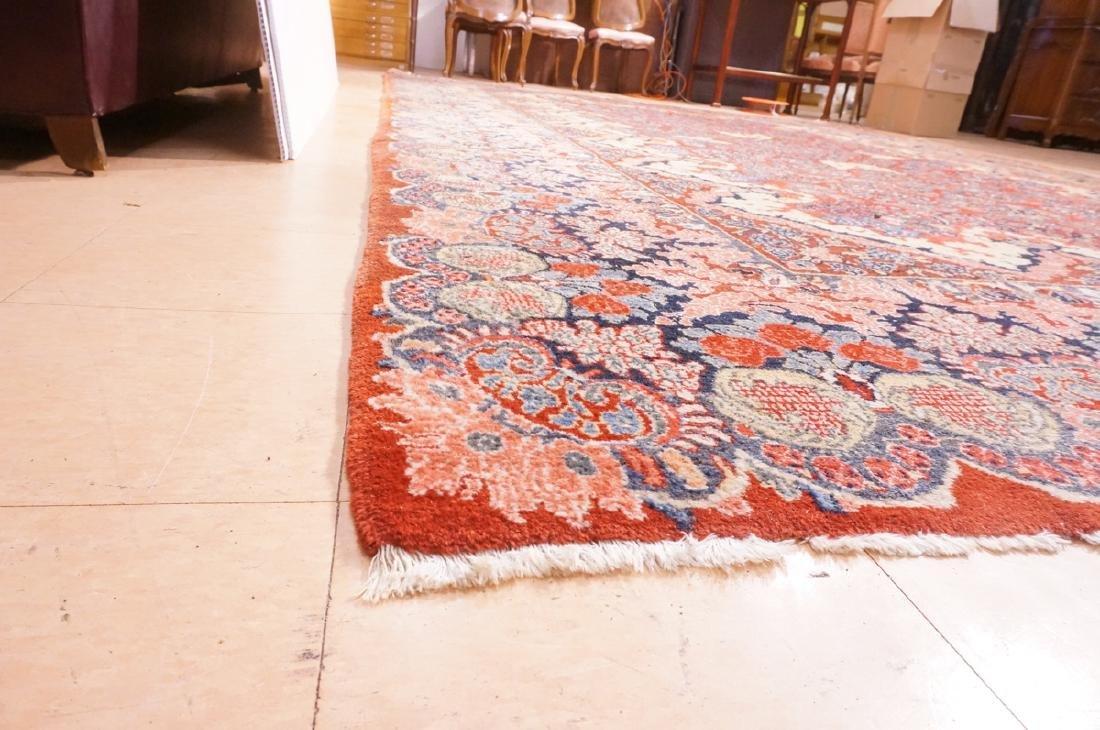"16' x 10'4"" Handmade Sarouk Carpet Rug. Room Size - 7"