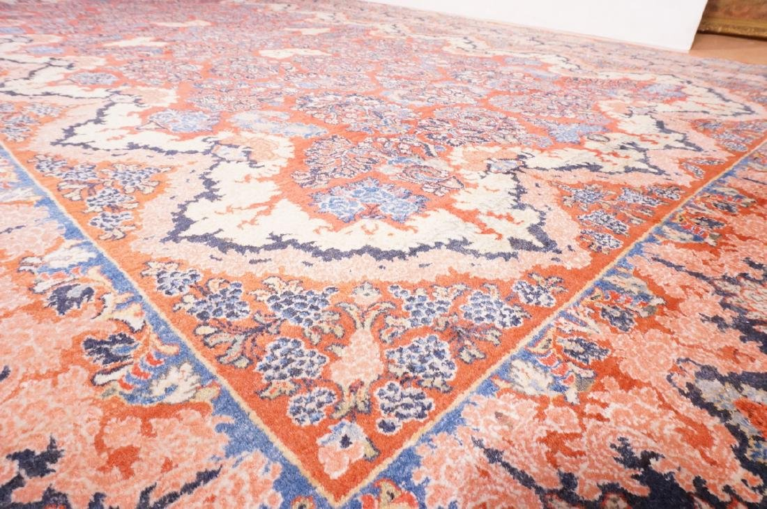 "16' x 10'4"" Handmade Sarouk Carpet Rug. Room Size - 8"